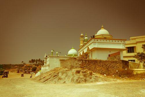 Pietų Indija,kerala,kovalamas,miestas,mečetė,Indija