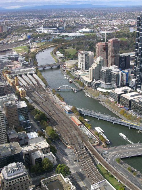 southbank, Melburnas, Viktorija, australia, upė, miestas, southbank melbourne australia