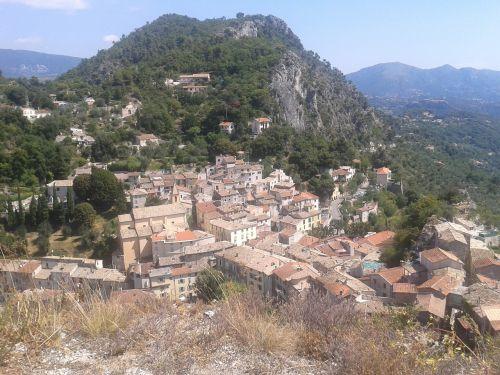 pietų france,turistinis,kraštovaizdis,france,kaimas,vasara