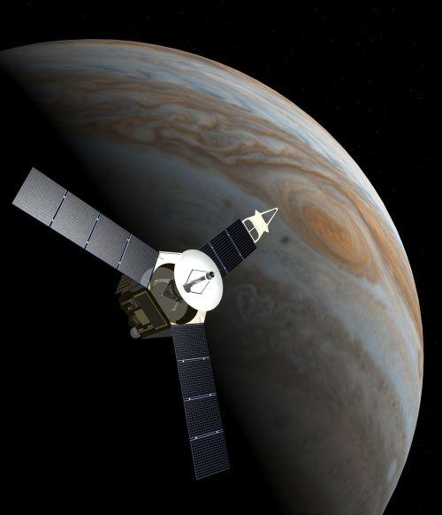 Kosmoso Zondas, Juno, Jupiteris, Planeta, Tyrimai, Erdvė, Kosmoso Kelionės, Nasa, Saulės Sistema, 3D, Kino Teatras 4 D, Dangaus Kūnas, Technologija, Mokslas