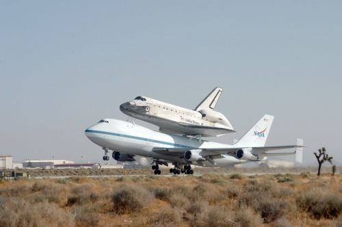 Kosminis Laivas, Nasa, Autobusas, Piggyback, Boeing, 474, Edwards Oro Pajėgų Bazė, Kennedžio Kosmoso Centras, Atradimas, Skristi, Kosmoso Kelionės