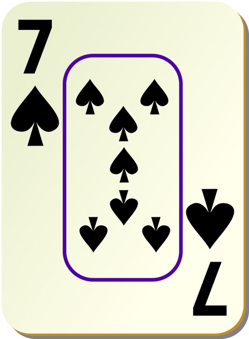 lopai,septyni,7,kortelė,poilsis,žaidimai,kortelės,ribojasi,sienos,žaidimas,žaisti,žaisti,nemokama vektorinė grafika