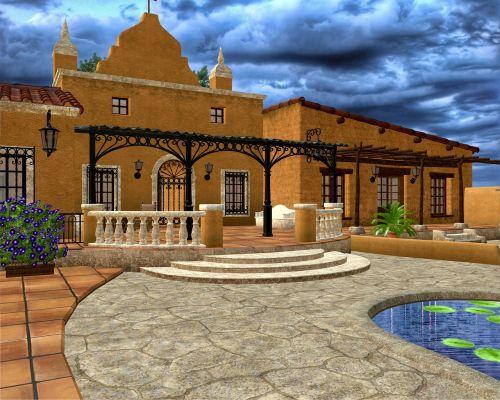 ispanų namas,pastatas,architektūra,ispanų,namas,tradicinis,Viduržemio jūros