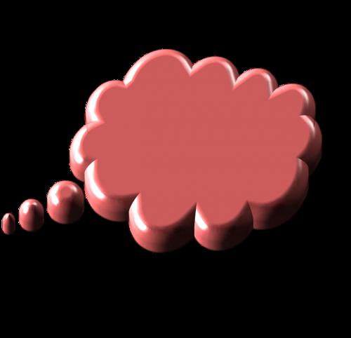 kalbos burbulas,minties burbulas,galvoti apie,galvoti,rožinis
