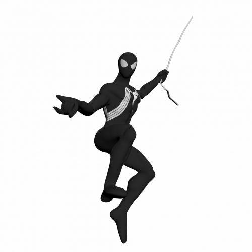 voras, vyras, žmogus-voras, juoda, kostiumas, drabužiai, kelia, piešimas, izoliuotas, balta, fonas, piktograma, avatar, aktorius, žaisti, filmas, herojus, žmogus-voras