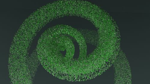 spiralė,Grüne,kubas,eddy