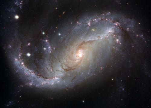 galaktika, erdvė, NASA, teleskopas teleskopas kosminiu teleskopu, viešasis & nbsp, domenas, fonas, tapetai, kosmosas, draudžiama & nbsp, spiralė & nbsp, galaktika, dorado, ngc & nbsp, 1672, spiralės & nbsp, ginklai, žvaigždės, spiralinė galaktika
