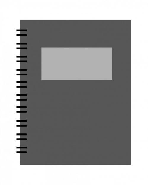 nešiojamojo kompiuterio, pažymėkite & nbsp, knygą, spiralė, juoda, Iliustracijos, menas, iliustracija, kontūrai, paprastas, pagrindinis, Laisvas, vaizdas, viešasis & nbsp, domenas, spiralės nešiojamojo kompiuterio juodo paveikslėlio