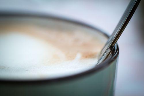 šaukštas,taurė,kava,kavos puodelis,putos,kavinė,cappuccino,kavos putos,Milchschaum,gerti,kavos šaukštas,kavinė au lait