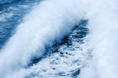vanduo, purkšti, pabusti, purslų, putos, ežeras, keltas, vanduo & nbsp, takas, purkšti už laivo