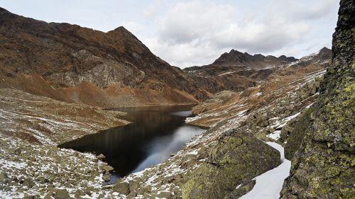 Spronser ežerai,kalninis ežeras,Alpių ežeras,mažas ežeras,gamta,South Tyrol,italy