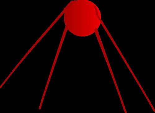 sputnik,palydovas,rusų,kosmonautika,technologija,nemokama vektorinė grafika