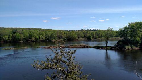 st Croix upė,minnesota,Viskonsinas,pavasaris,gamtos upė,vanduo