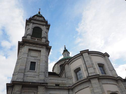 St Ursus katedra,nave,katedra,solothurn,Šv ir Velerio katedra,St Ursen katedra,st-ruseno katedra,Romos katalikų,romėnų bažnyčios katalikų vyskupija,Šveicarija,ankstyvojo klasicistinio stiliaus,bažnyčios pastatai,bažnyčia