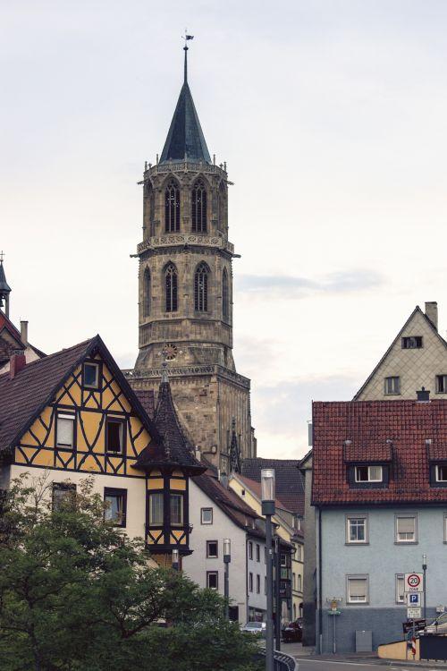 miestas, rottweil, senas miestas & nbsp, bokštas, bažnyčia, namai, Vokietija, miestas rottweil senamiestis