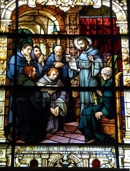 dėmių stiklas,langas,bažnyčia,šventas,st augustine,tikėk,krikščionis,amžinas,tikėjimas,stiklas,dievas,šventumas,tikėjimas,religija,dvasia,simbolis,sekmadienis,meno,spalvinga,gyvas