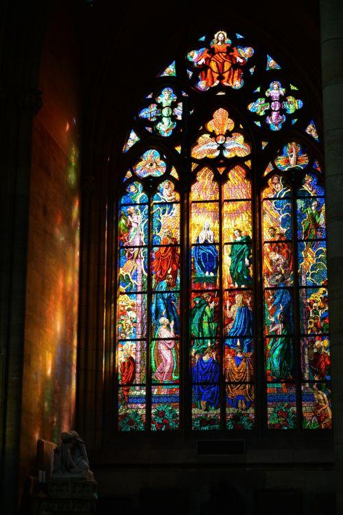vitražas,pabrėžia,spalvos