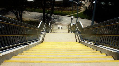 laiptai,geltona,kelias,šaligatvis,pakilti,palaipsniui,ochros spalvos