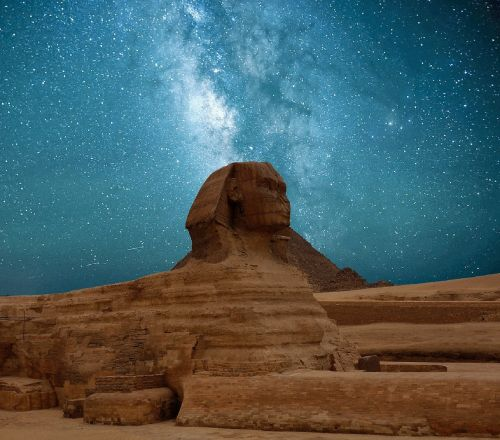 žvaigždė,naktinis dangus,piramidės,Sfinksas,Egiptas,Žvaigždėtas dangus,dangus,nuotaika,tamsi,vakarinis dangus,erdvė,paukščių takas,kosmosas,vakaras