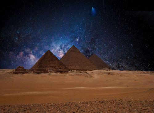 žvaigždė,naktinis dangus,piramidės,Egiptas,Žvaigždėtas dangus,dangus,nuotaika,tamsi,vakarinis dangus,erdvė,paukščių takas,kosmosas,vakaras