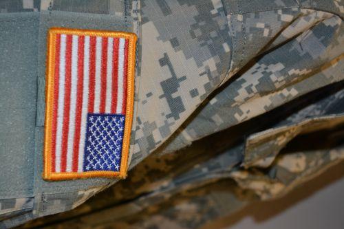 vėliava, acu, uniforma, kariuomenė, raudona, balta, mėlynas, žvaigždės, juostelės, vėliava, usa, žvaigždė juosta vėliava amerikietiška senoji šlovė