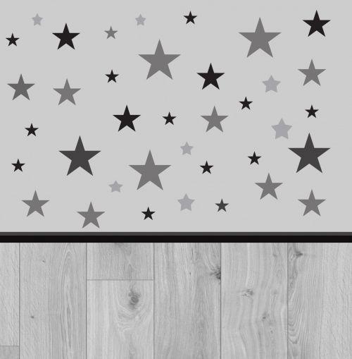 pilka, žvaigždės, miškai, fonas, tapetai, modelis, žvaigždės ir medis