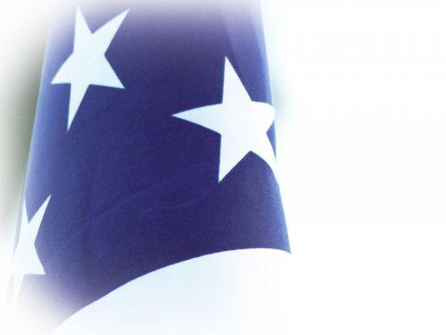 žvaigždės, amerikietis, vėliava, mėlynas, balta, vinjetė, amerikietiškos vėliavos žvaigždės