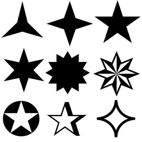 žvaigždė, žvaigždės, simbolis, simboliai, juoda, siluetas, izoliuotas, balta, fonas, ženklas, žvaigždžių simboliai