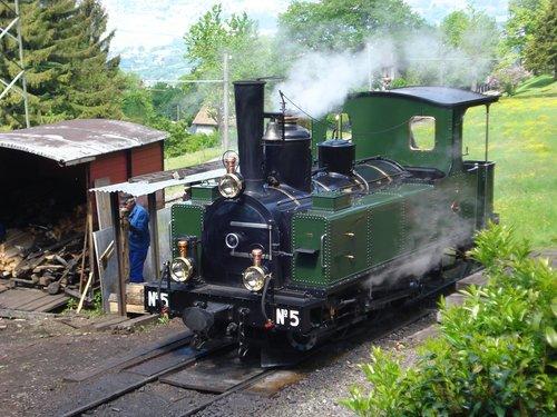 garvežys, chamby dėl Blonay, muziejus, Loco, LEB, nostalgija, lokomotyvų, traukinys, nostalgija, istoriškai, renginys