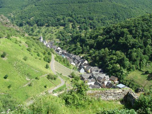 steeg, bacharach, Reino slėnis, kaimas, Miestas, mažas, vaizdingas, slėnis, kalvos, augmenija