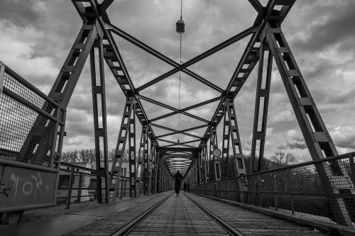 plienas, tiltas, industrija, juoda ir balta, dangus, niūrus, be honoraro mokesčio