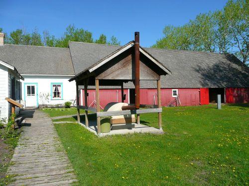 Steinbacho mennonito paveldo kaimas,senas,sodyba,raudonasis svirnas,peizažas,pastatas,Miestas,kaimas,manitoba,Kanada
