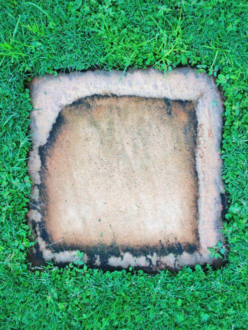 akmuo, stepping, grindinis, kvadratas, su vandeniu pažymėtos, dažytos, kertinis akmuo