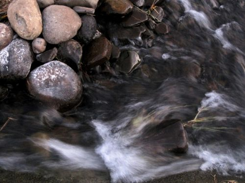 srautas, upė, vandens, paraudimas, uolienos, akmenukai, sterkspruit upė, Drakensberg