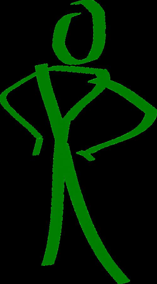 Stick figūra,stovintis,Stick man,žalias,figūra,nemokama vektorinė grafika