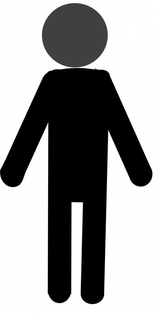 siluetas, juoda, Stickman, Stick, vyras, Patinas, izoliuotas, balta, fonas, figūra, simbolis, stovintis, piktograma, Stick man