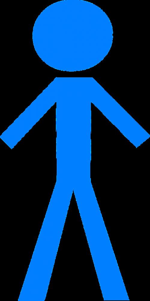 Stick man,mėlynas,figūra,asmuo,Stickman,Stick figūra,matchstick žmogus,nemokama vektorinė grafika