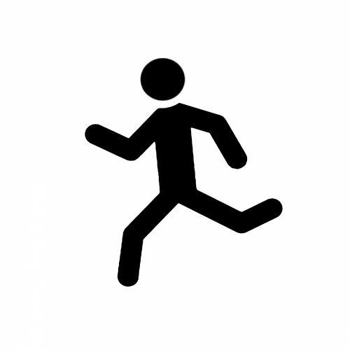 Stick, vyras, balta, izoliuotas, žmogus, šokinėja, maratonas, veikla, lenktynės, galia, verslas, linija, sėkmė, simbolis, jogger, sportuoti, aktyvus, grafika, fitnesas, žmonės, aerobika, juoda, paprastas, figūra, pradėti, bėgikas, iliustracija, piktograma, figūra, apdaila, Stick man i