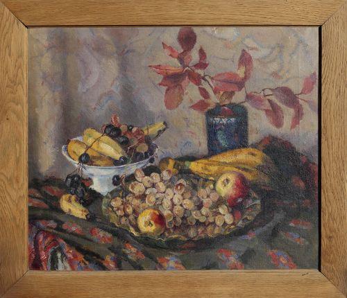 natiurmortas,vaisių krepšys,dažymas,rėmas