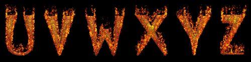 šriftai, abėcėlės, Ugnis, liepsna, auksinis, creepy, Anglų, šykštūs ugniai šriftai u-z