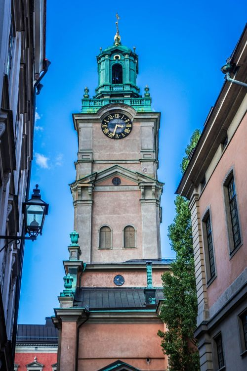 Stockholm,bažnyčia,laikrodzio bokstas,Švedija,miestas,architektūra,Skandinavija,pastatas,senas,Miestas,Europa,orientyras,gamla,stan