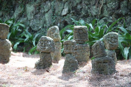 akmuo,skulptūra,statula,vulkaninis uolas,Jeju sala
