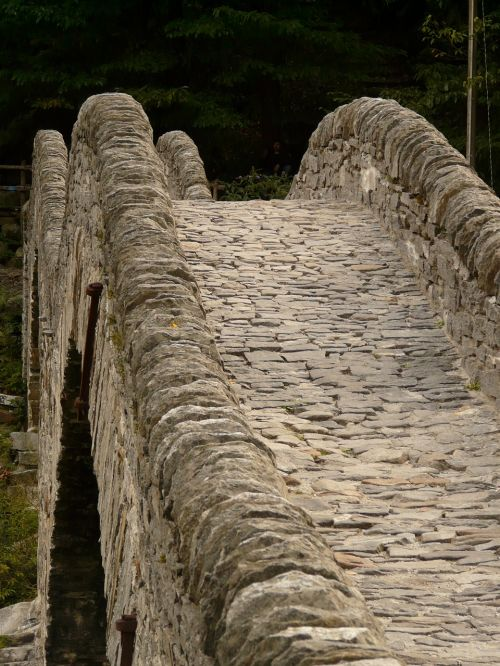 Akmeninis Tiltas, Tiltas, Akmuo, Mūra, Verzasca, Turėklai, Toli, Romėnų Tiltas