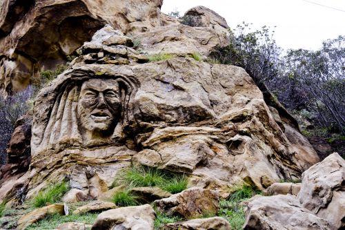 akmuo, veidas, moteris, simi & nbsp, slėnis, ca, Kalifornija, raižyti, kanjonas, keistai, akmens moters veidas