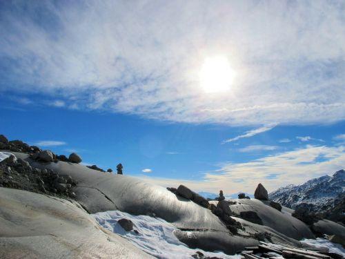 akmenys,dangus,debesuotumas,kraštovaizdis,saulė,gamta