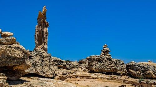 akmenys, kelias ženklas, gamtos takas, Cavo Greko, Nacionalinis parkas, takas, žygiai, Kipras