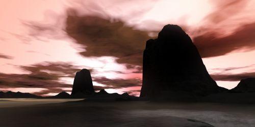 vakaras, naktis, tamsi, saulėlydis, debesys, dangus, gamta, keistas vakaras