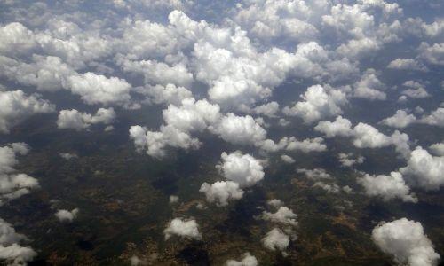 sluoksniukai,debesys,oro vaizdas,Indija