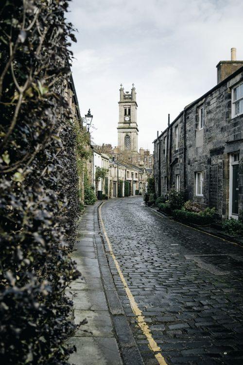 gatvė,bokštas,istorinis,asfaltuotas,senas,viduramžių