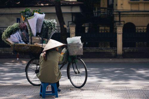gatvė,pardavėjas,pardavėjas,žmonės,moteris,skrybėlę,sėdi,gėlės